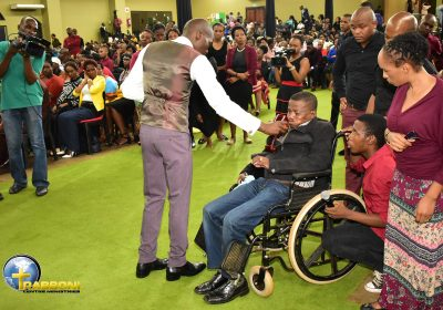 SEE HOW BLOOD OF CHRIST RAISES MAN FROM WHEELCHAIR